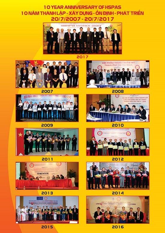 Hội nghị Quốc Tế về Phẫu Thuật Thẩm Mỹ chào mừng kỷ niệm 10 năm thành lập Hội Phẫu Thuật Thẩm Mỹ TP.HCM và Hội Nghị Quốc Tế IMAPS Việt Nam Lần Thứ 3 đã diễn ra vào ngày 14-15-16 tháng 7 năm 2017 tại khách sạn Equatorial Saigon và Bệnh viện Trưng Vương.